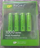 Аккумуляторы GP ReCyko+ AAA 1000 mAh Ni-MH