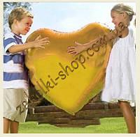Фольгированные воздушные шары, форма:сердце, цвет: золото, 28 дюймов/70 см, 1 штука
