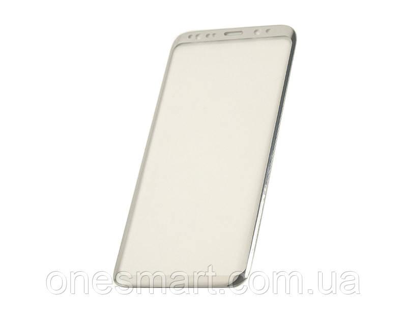 Защитное стекло 3D PowerPlant для Samsung S8 Silver