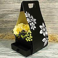 Подарочная коробка с ящиком для цветов 21612-13 (1 шт. в комплекте)