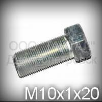 Болт М10х1х20 міцність 6.6 ГОСТ 7796-70 (7808-70) оцинкований