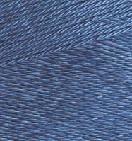 Пряжа Alize MISS джинс №94 хлопковая для ручного вязания, летняя