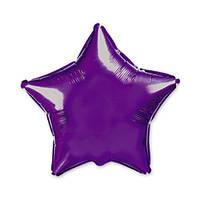 Фольгированные воздушные шары, форма:звезда, цвет: фиолетовый, 11 дюймов/28 см, 1 штука