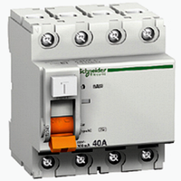 Дифференциальный выключатель нагрузки ВД63 4П 25A 30МA (11460)