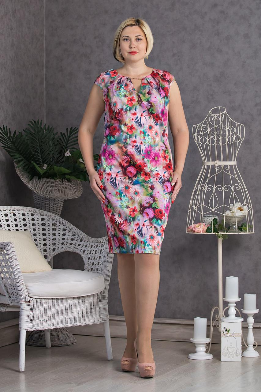 6a49607ff6e Легкое летнее платье Сильвия больших размеров 50 - Интернет-магазин одежды  Top2shoP в Хмельницком