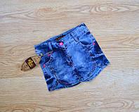 Детские джинсовые шорты для девочки 3-7 лет