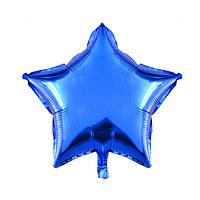 Фольгированные воздушные шары, форма:звезда, цвет: синий, 11 дюймов/28 см, 1 штука