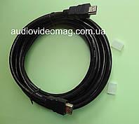 Кабель HDMI - HDMI, длина 3 метра, толщина 7 мм, цвет черный