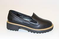 Туфли женские черные Т755 р 36,38,39