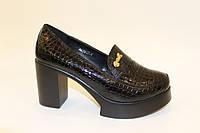 Туфли женские черные на каблуке Т757 р 38,39