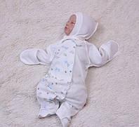 Качественный человечек с шапочкой для новорожденных Жирафики