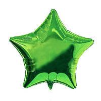Фольгированные воздушные шары, форма:звезда, цвет: зеленый 16 дюймов/43 см, 1 штука