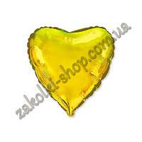 Фольгированные воздушные шары, форма:сердце, цвет: золото, 18 дюймов/45 см, 1 штука