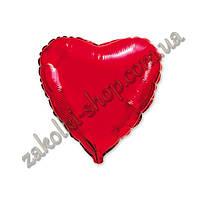 Фольгированные воздушные шары, форма:сердце, цвет: красный, 18 дюймов/45 см, 1 штука