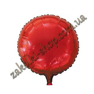 Фольгированные воздушные шары, форма:круг, цвет: красный, 18 дюймов/45 см, 1 штука