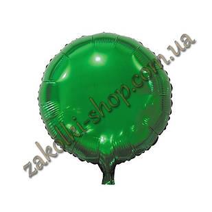 Фольгированные воздушные шары, форма:круг, цвет: зеленый, 18 дюймов/45 см, 1 штука