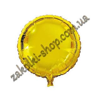 Фольгированные воздушные шары, форма:круг, цвет: золото, 18 дюймов/45 см, 1 штука