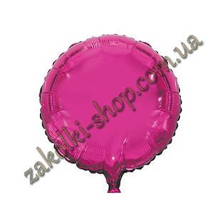 Фольгированные воздушные шары, форма:круг, цвет: малиновый, 18 дюймов/45 см, 1 штука
