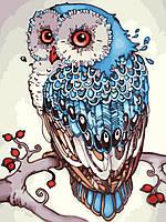 Рисование по цифрам Идейка Сказочная сова (KHO2458) 30 х 40 см (без коробки)