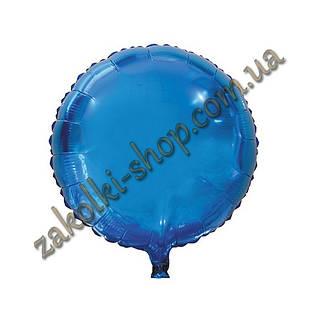 Фольгированные воздушные шары, форма:круг, цвет: синий, 18 дюймов/45 см, 1 штука