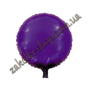 Фольгированные воздушные шары, форма:круг, цвет: фиолетовый, 18 дюймов/45 см, 1 штука