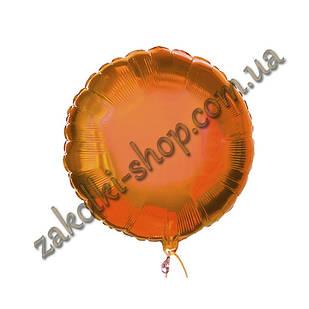Фольгированные воздушные шары, форма:круг, цвет: оранжевый, 18 дюймов/45 см, 1 штука