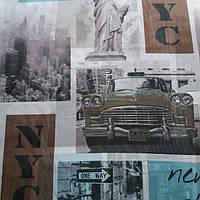 Тюль шифон Нью Йорк принт