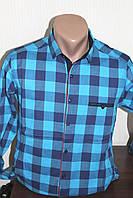 Мужская рубашка Paul Smith клетка, длинный рукав