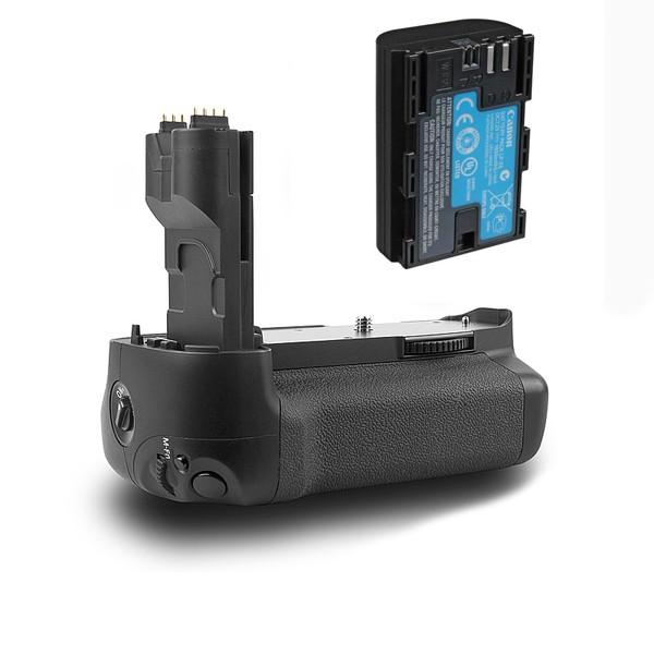 Батарейный блок (бустер) Meike MK-7d + Батарея LP-E6 для Canon 7d (аналог Canon BG-E7)