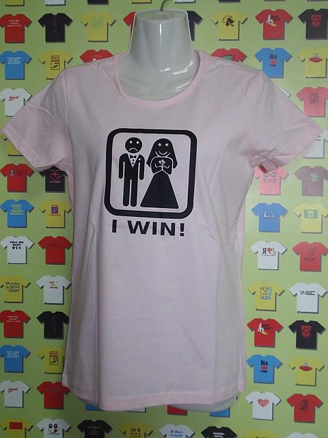Футболка I Win_ (свадебные футболки)