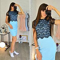 Платье с кружевной блузкой болеро 0562-3
