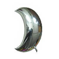Фольгированные воздушные шары, форма: луна, цвет: серебро, 9 дюймов/24 см, 1 штука
