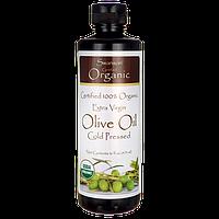 Swanson®Сертифицированное 100% Натуральное Масло Оливковое Extra Virgin Холодного Отжима, 473 мл.