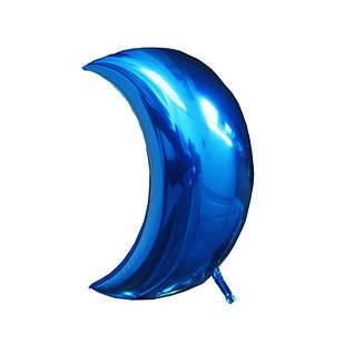Фольгированные воздушные шары, форма: луна, цвет: синий, 18 дюймов/40 см, 1 штука