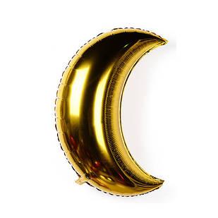 Фольгированные воздушные шары, форма: луна, цвет: золото, 18 дюймов/40 см, 1 штука