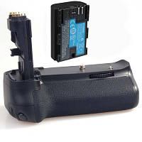 Батарейный блок (бустер) Meike MK-60d для Canon 60d (аналог Canon BG-E9) + батарея LP-E6