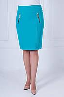 Летняя женская юбка Эльза бирюзового цвета