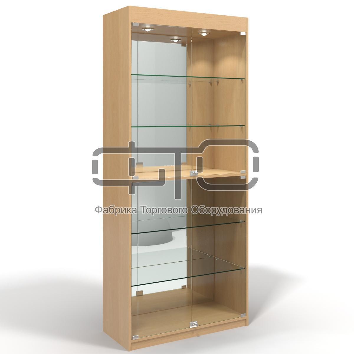 Витрина шкаф 80 С (задняя стенка зеркало)