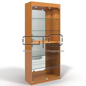 Витрина шкаф 80 С (задняя стенка зеркало), фото 2