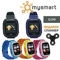 Q100 детские GPS часы c закаленным стеклом Wi-Fi и виброзвонком