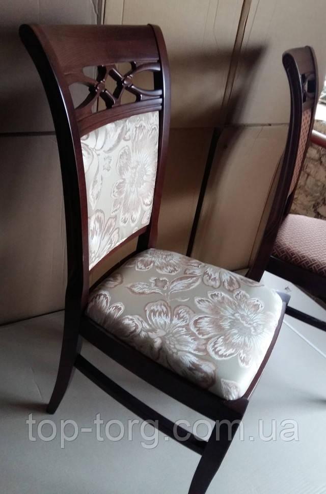 Деревянный резной стул Виктоия темный орех