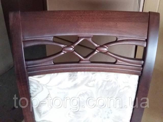 Резная спинка стула Виктория с мягкой частью