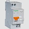 Дифференциальный автоматический выключатель АД63 2П 25А 30 МА (11474)