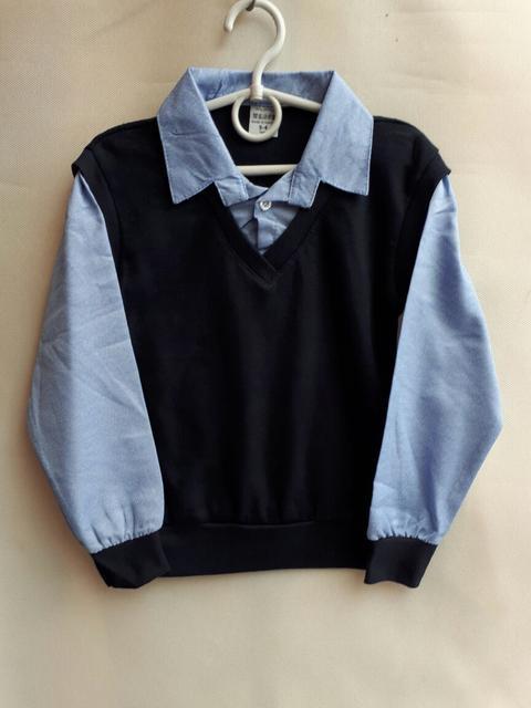 Рубашки и обманки, жилетки школьные для мальчиков