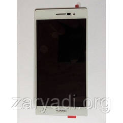 Дисплей LCD Huawei Ascend P7 + touch + frame White