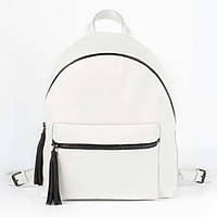 Белый кожаный рюкзак - размер L (maxi), фото 1