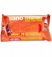 Салфетки влажные для мебели SANO, 20шт