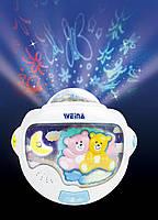Ночной светильник с проектором «Двойняшки Тедди» (2129), Weina
