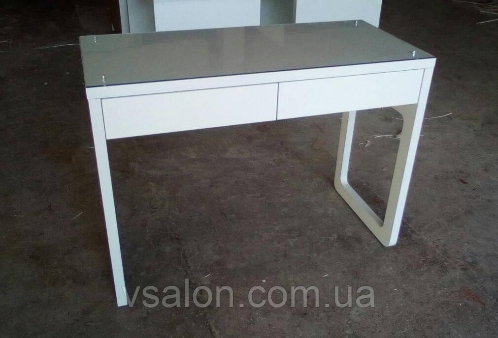 Стол маникюрный со стеклом на столешнице V144