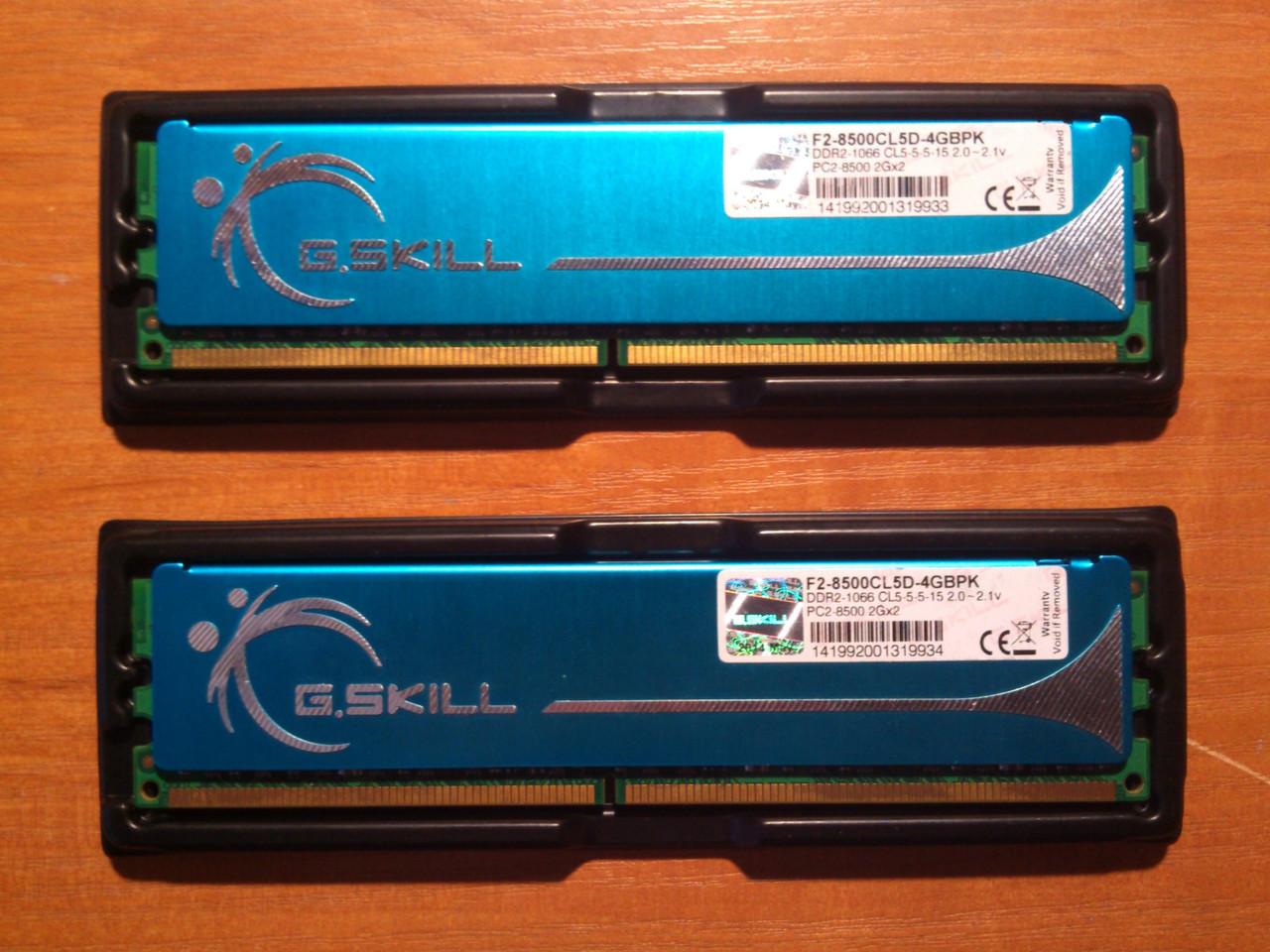 Пара G.SKILL DDR2 4GB 1066MHz PC2-8500 під Intel/AMD Гарантія!